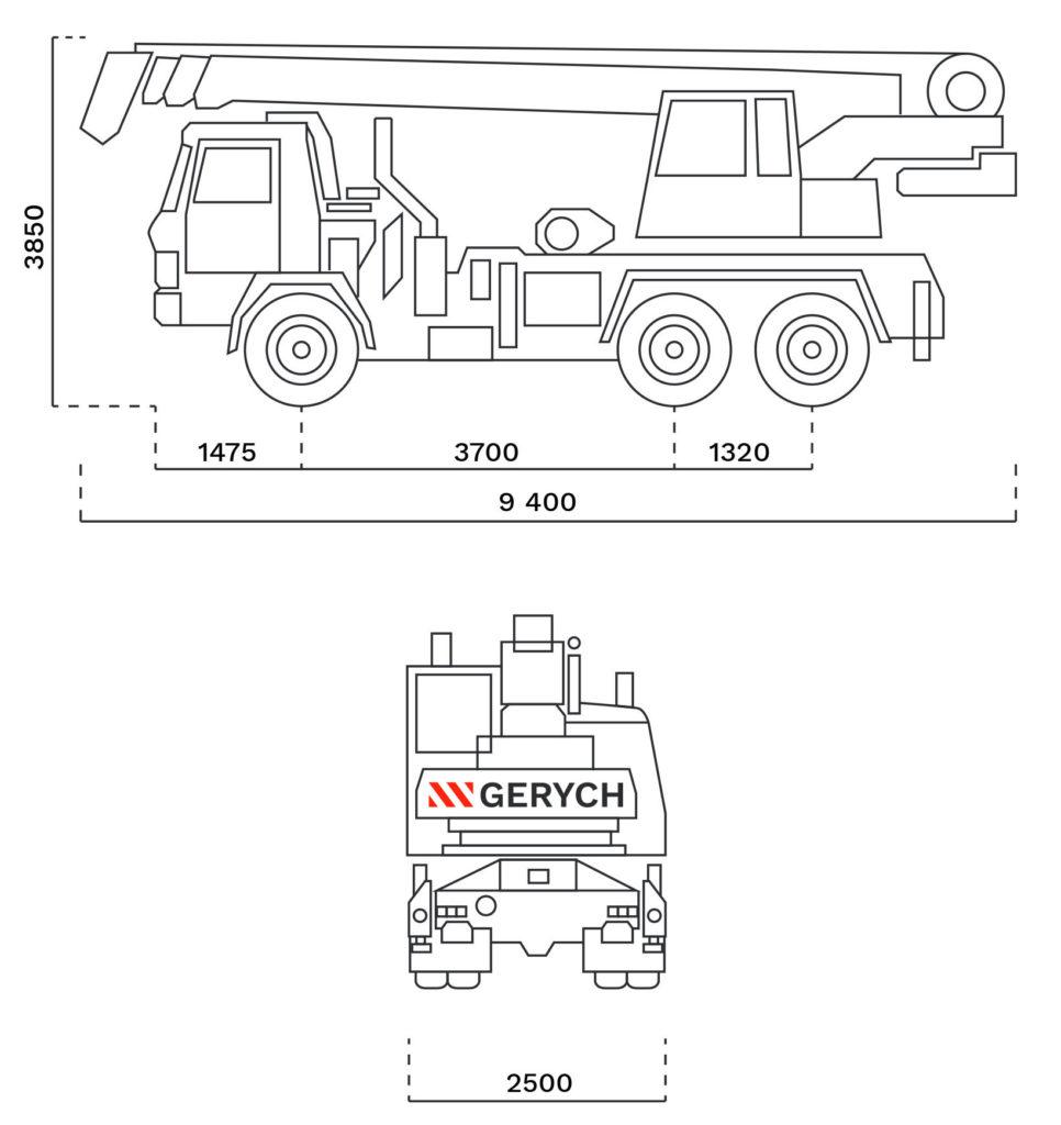 Autojerab AD-20T rozmery - GERYCH